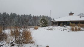 center in light snow