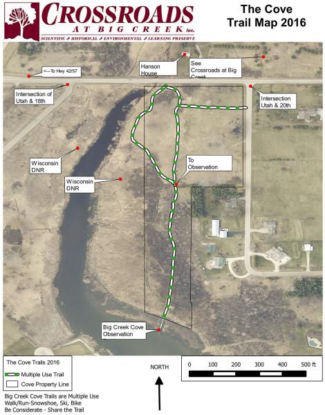 Cove at Crossroads Trail Map