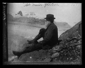 john muir at a glacier