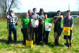 Tree planting at Crossroads